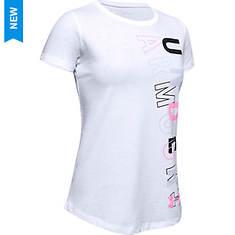 Under Armour Girls' Live Graphic Wordmark SS T Shirt