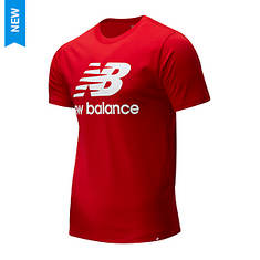 New Balance Men's Essentials Stacked Logo Tee