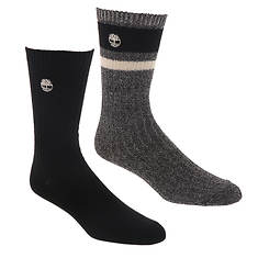 Timberland Men's Marled Stripe Boot Sock 2-Pack