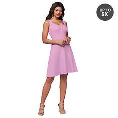 Rib-Knit Snap-Front Dress