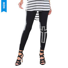 Rhinestone Cross Legging