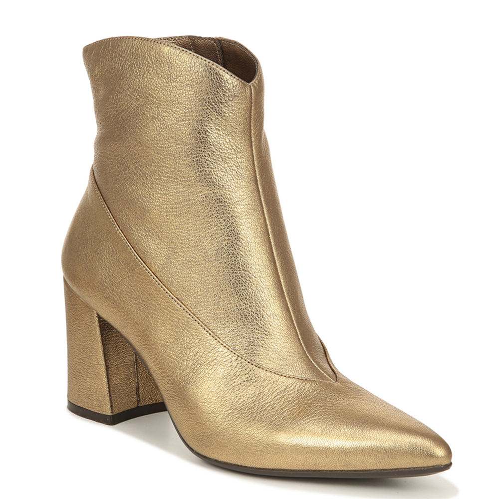 Retro Vintage Style Wide Shoes Naturalizer Hart Womens Gold Boot 9.5 W $139.95 AT vintagedancer.com