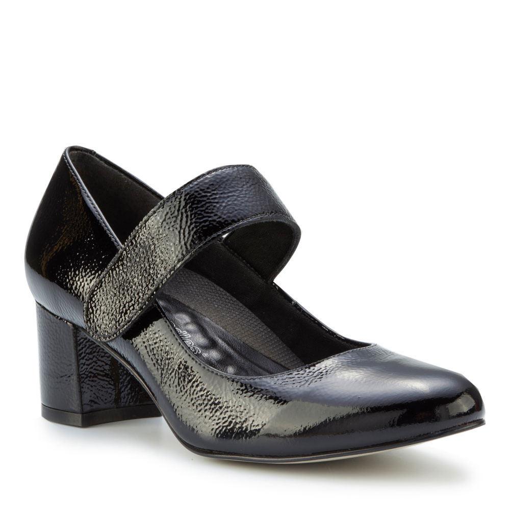 70s Shoes, Platforms, Boots, Heels | 1970s Shoes Walking Cradles Jackie 2 Womens Black Pump 8 N $139.95 AT vintagedancer.com