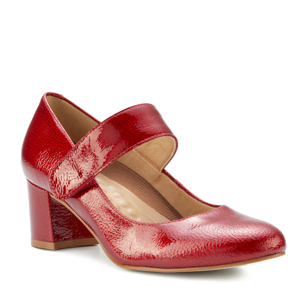 1950s Style Shoes   Heels, Flats, Boots Walking Cradles Jackie 2 Womens Red Pump 4 M $139.95 AT vintagedancer.com