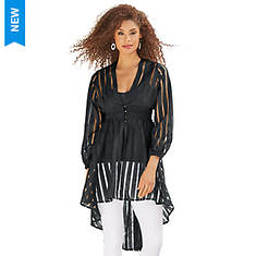 Sheer Striped Duster