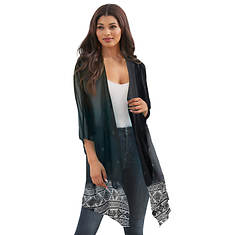 Sheer Short-Sleeved Duster