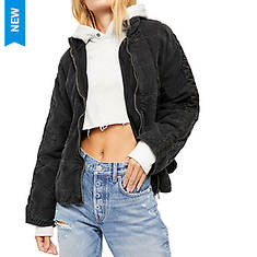 Free People Women's Dolman Quilted Denim Jacket
