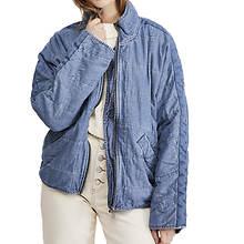 Free People Women's Dolman Quilted Denim Jacket