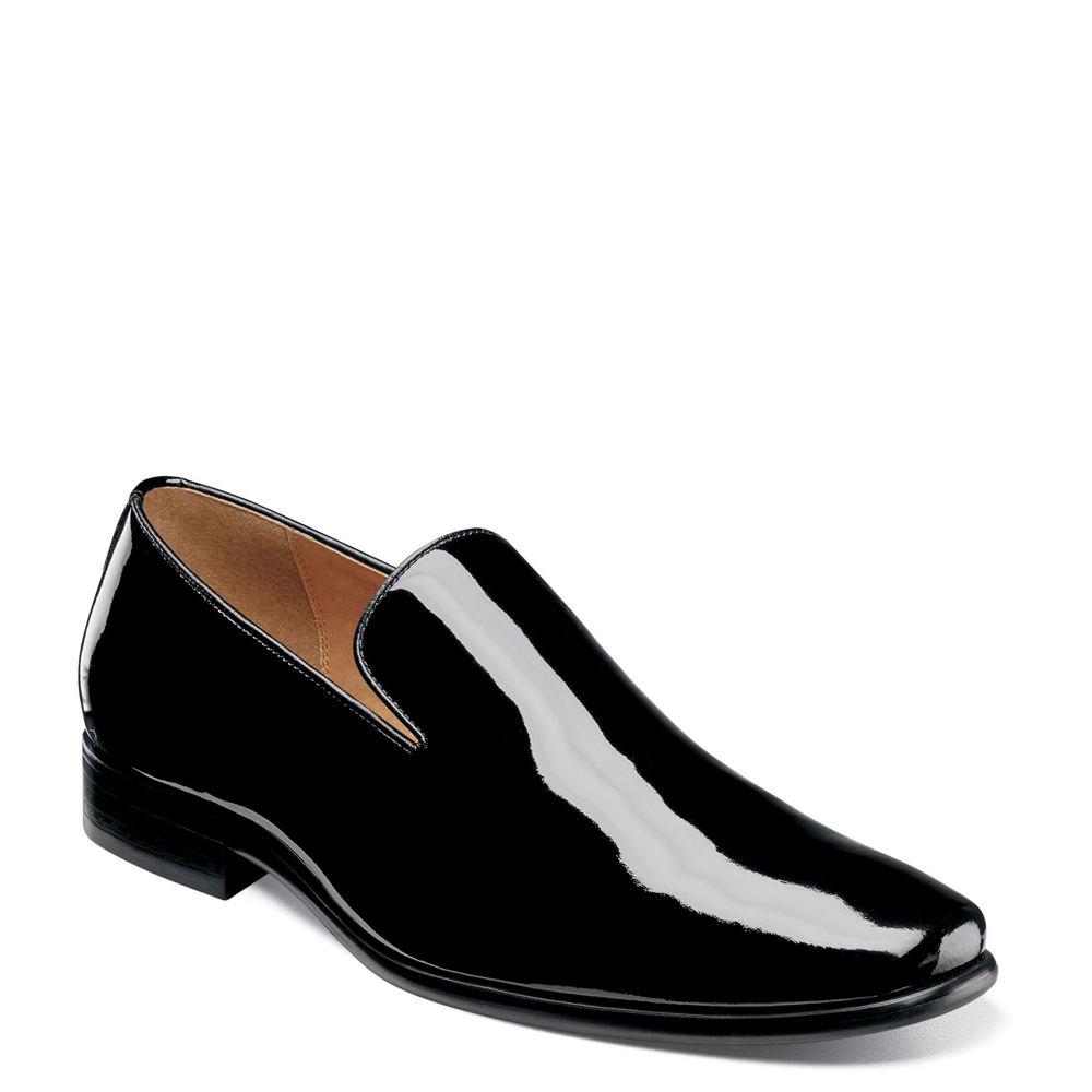 Mens Retro Shoes | Vintage Shoes & Boots Florsheim Postino Plain Toe Slip On Mens Black Slip On 13 D $104.99 AT vintagedancer.com