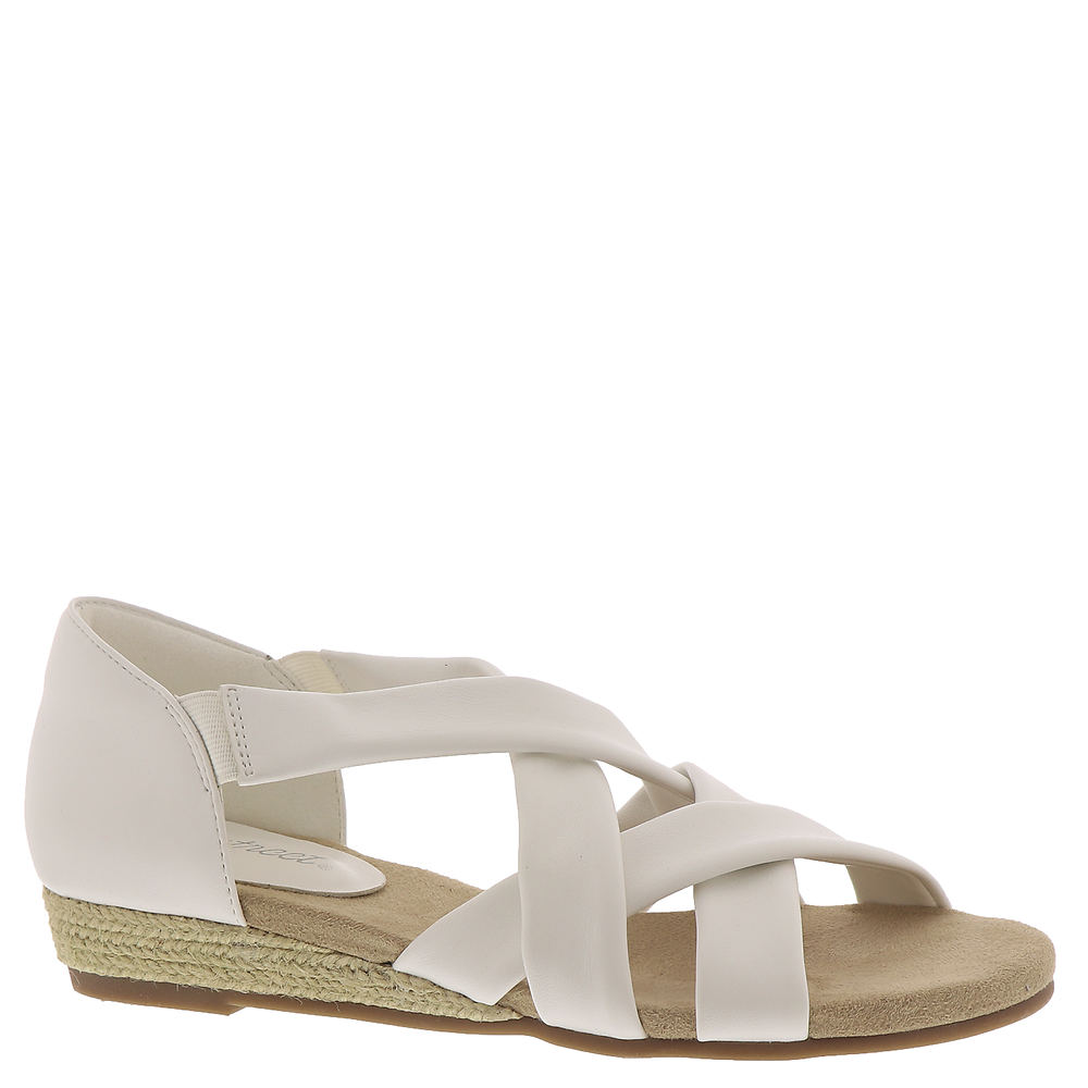 Buy WIDE shoes in 1920s, 1930s, 1940s, 1950s styles? Easy Street Zora Womens White Sandal 9 W $54.95 AT vintagedancer.com