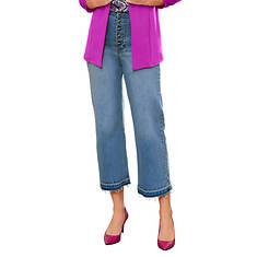 Wide-Leg Cropped Jean