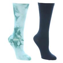 Steve Madden Women's SM45251 2PK Tie Dye Crew Socks