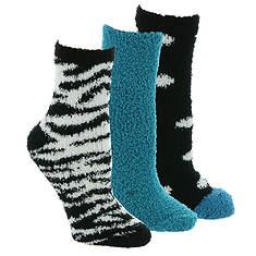Steve Madden Women's SM45587 Cozy Zebra Polka Dot Crew Socks