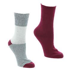 Steve Madden Women's SM45289 2PK Lurex Boot Socks