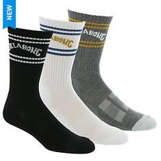 Billabong Men's Arch Crew Sock 3-Pack