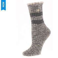 Birkenstock Women's Fashion Slub Lace Ankle Socks