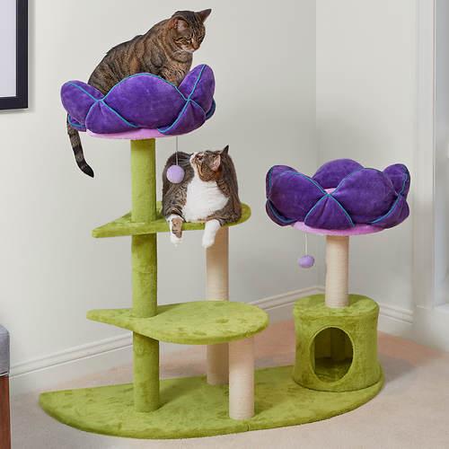 Kitty Power Flower Garden Cat Tower