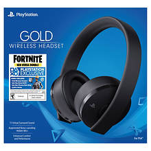 PS4 Fortnite Gold Wireless Headset: Fortnite Neo Versa Bundle