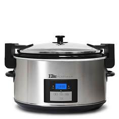 Elite 8.5-Quart Stainless Steel Programmable Slow Cooker