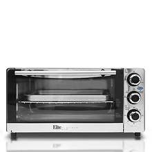 Elite Stainless Steel 6-Slice Convection Toaster Oven