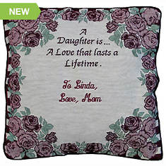 Personalized Daughter Pillow