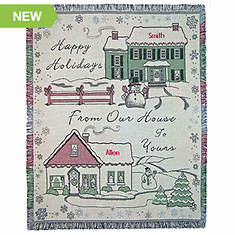 Personalized Happy Holiday Throw