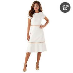 Grommet-Trim Dress