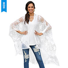Crochet-Embroidered Wrap Top