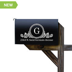 Personalized Family Initial Mailbox Decal