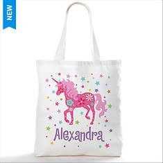 Personalized Pretty Unicorn Tote Bag
