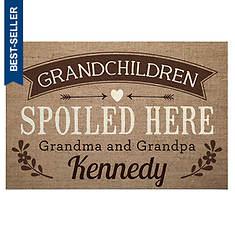 Personalized Spoiled Grandchildren Doormat