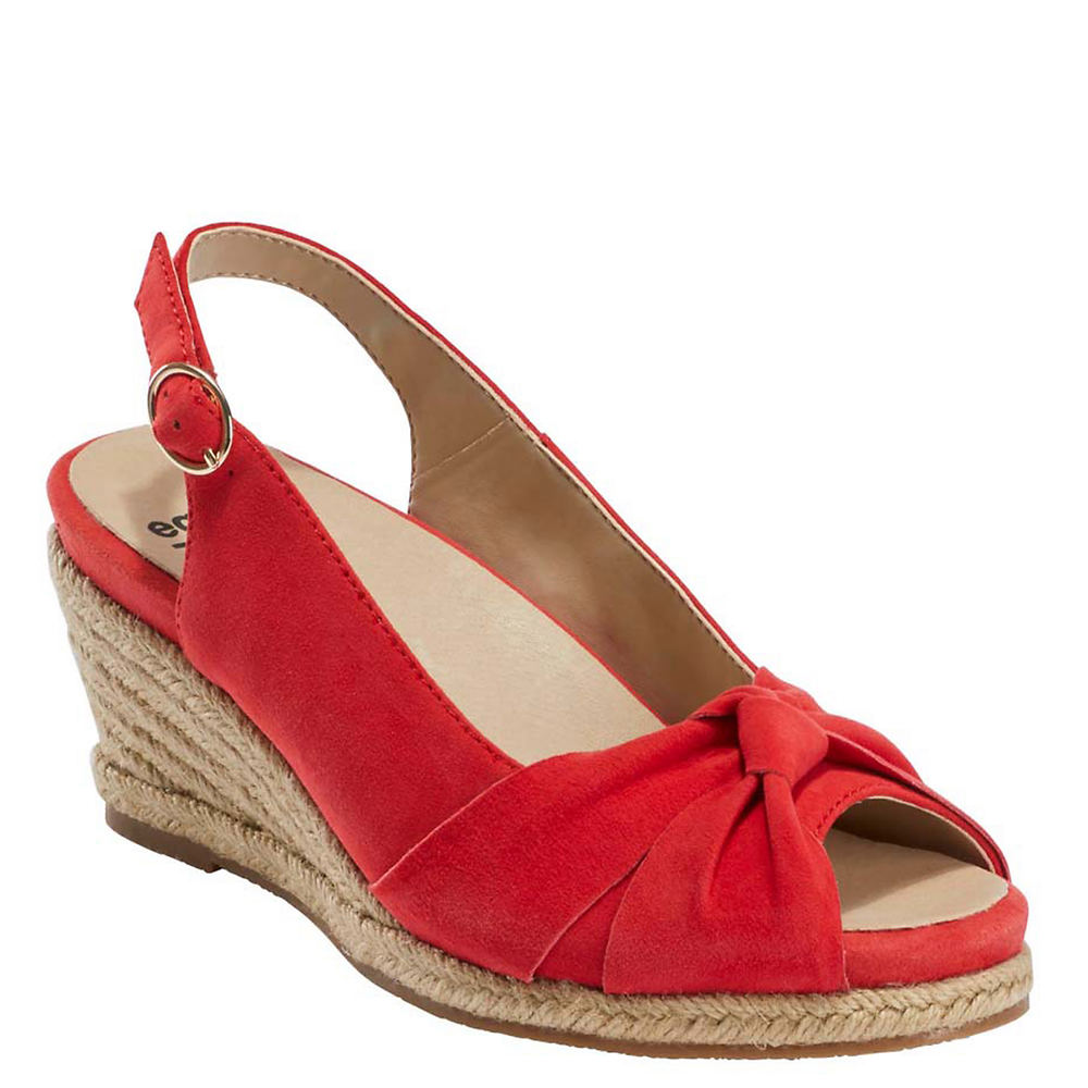 1940s Style Shoes, 40s Shoes Earth Thara Bermuda Womens Red Sandal 9.5 M $89.95 AT vintagedancer.com