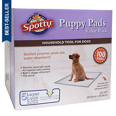 Spotty Value Puppy Pads 100-Count