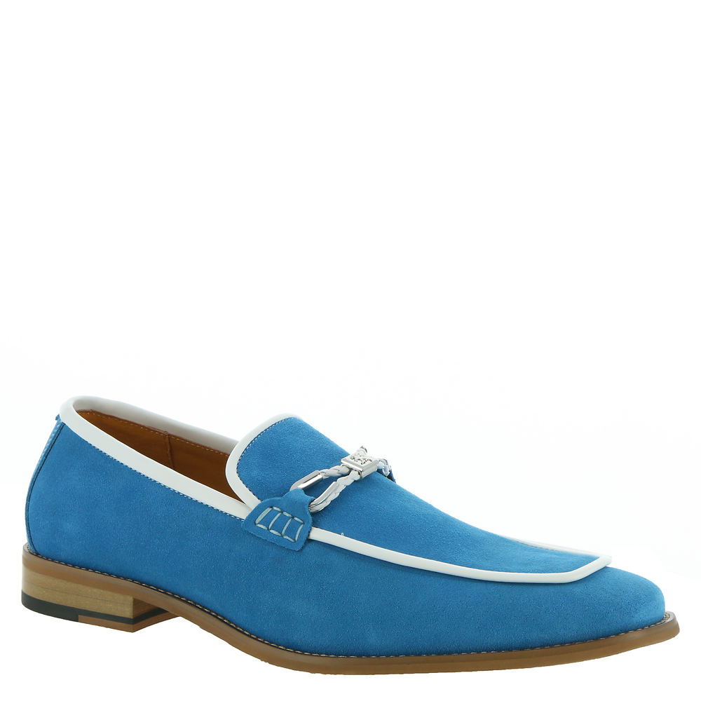 Mens Retro Shoes | Vintage Shoes & Boots Stacy Adams Colbin Mens Blue Slip On 10 M $94.95 AT vintagedancer.com