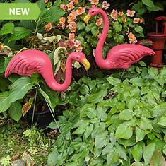 2-Pack Pink Flamingo Yard Ornaments