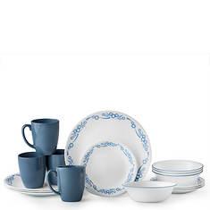 Corelle Livingware 16-Piece Cornflower Dinnerware Set