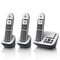 Motorola Call Block Cordless Phone with 2 Handsets