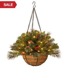 20'' Crestwood Hang Basket with Lights