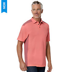 Men's Washed Pieced Pique Polo