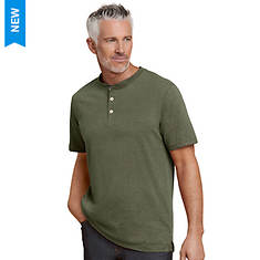 Men's 3-Button Heathered Henley