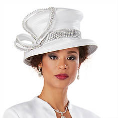 Rhinestone-Embellished Hat