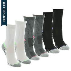 Skechers Women's S110655 Crew 6 Pack Socks