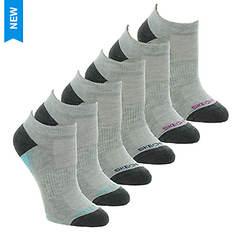 Skechers Women's S112085 Low Cut 6 Pack Socks