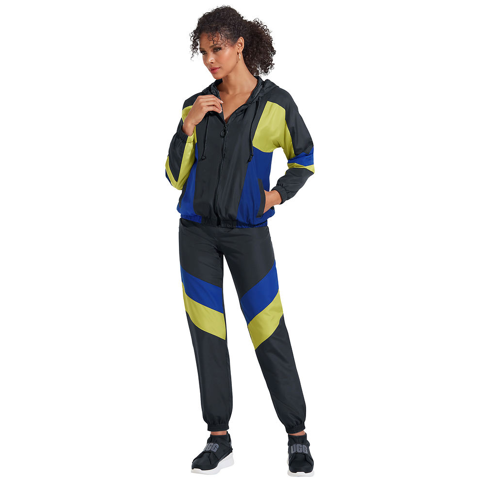 70s Workout Clothes | 80s Tracksuits, Running Shorts, Leotards Windbreaker Track Set Black Sets 1X $69.95 AT vintagedancer.com