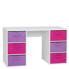 Student Desk with Canvas Drawers