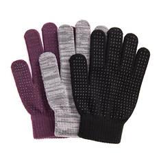 MUK LUKS Women's Magic Gloves 3-Pack