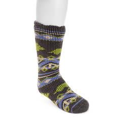 MUK LUKS Boys' 1 Pair Heat-Retainer Thermal Socks