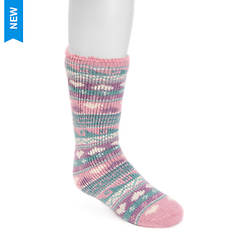 MUK LUKS Girls' 1 Pair Heat Retainer Thermal Socks