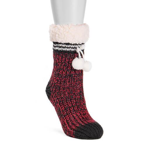 MUK LUKS Women's 1-Pair Slouchy Cabin Socks