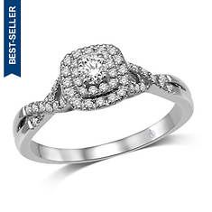 14K Twist Engagement Ring 1/3 ct. tw.